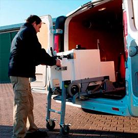 Bestelwagen-inrichting