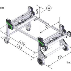 Dynnox-XL53 mobiele bedrijfswagen inrichting
