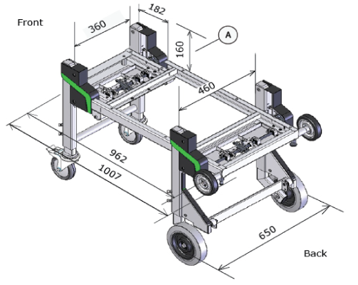 Brancard-DynnoxL46 mobiele bedrijfswagen inrichting