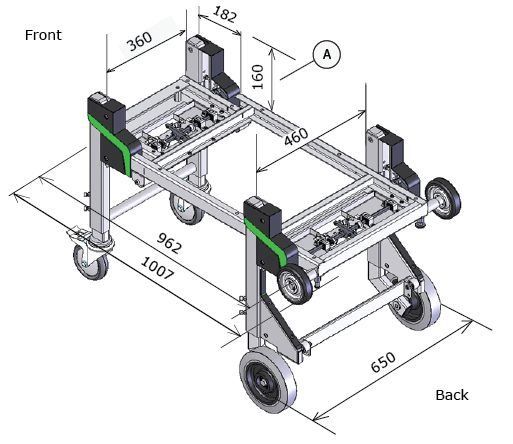 Dynnox-L46 mobiele bedrijfswagen inrichting