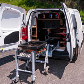 dent tools mobiele bedrijfswagen inrichting