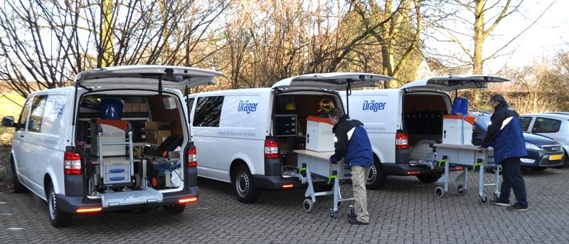 Dräger mobiele bedrijfswagen inrichting