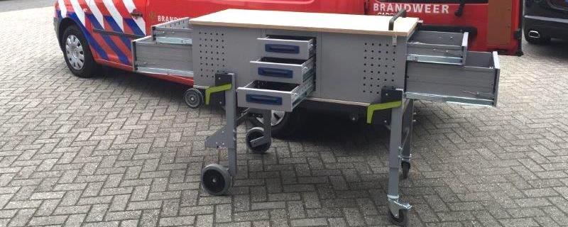 brandweer mobiele bedrijfswagen inrichting