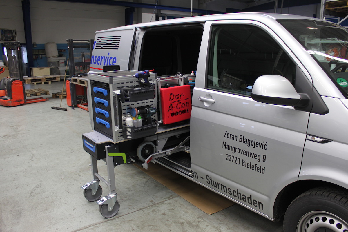 smart repair mobiele bedrijfswagen inrichting