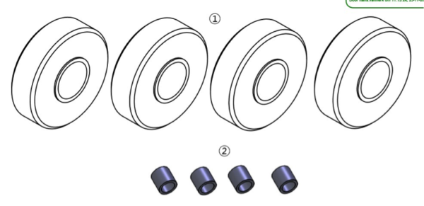 dynnox set nylon wheels
