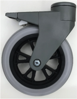 Dynnox Zwenkwiel met kunststof krans 200 x 35 mm